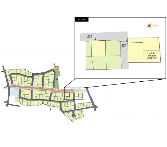 小郡市三沢 区画図