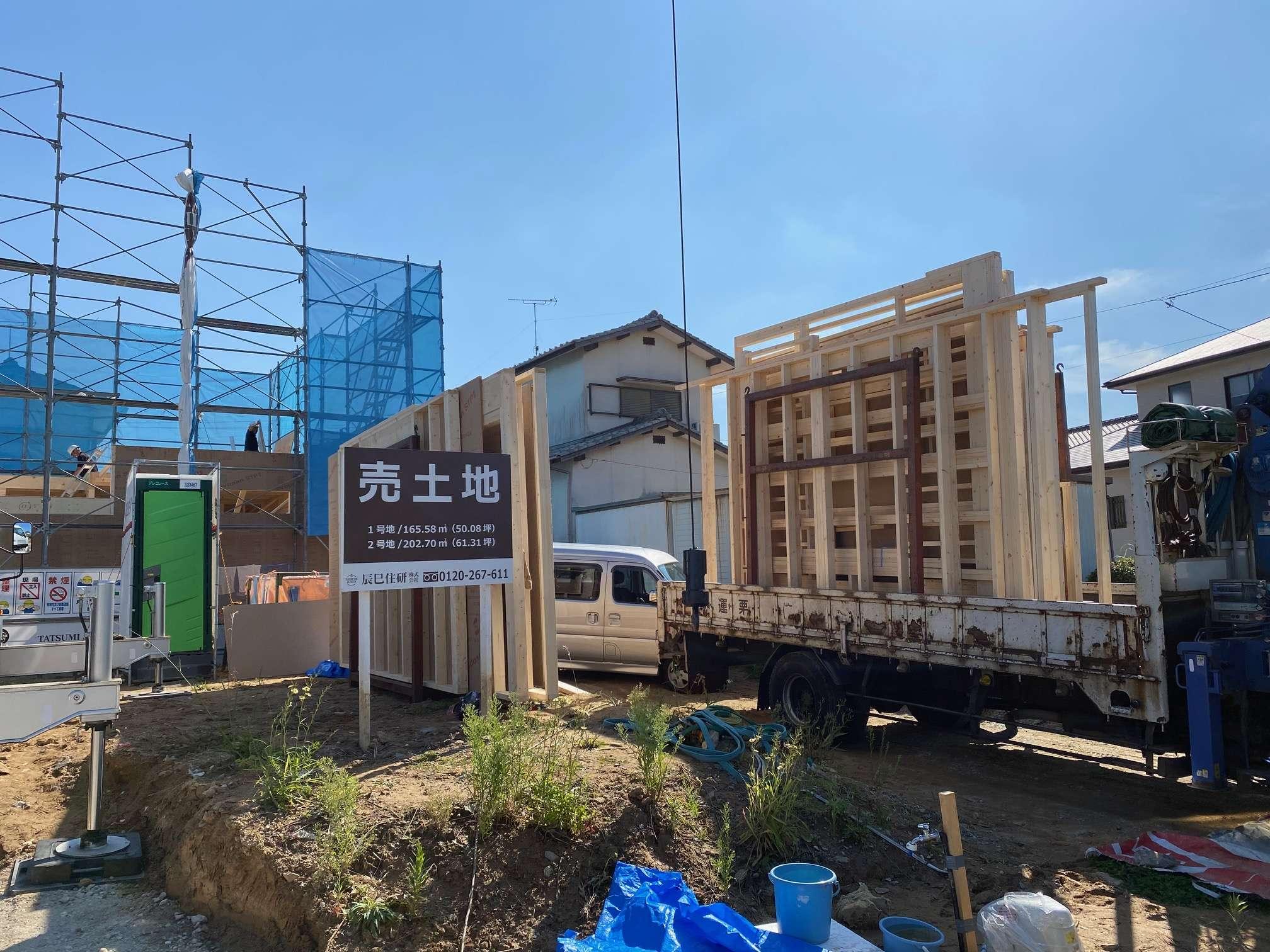 image 辰巳住研の新たなモデルハウス上棟