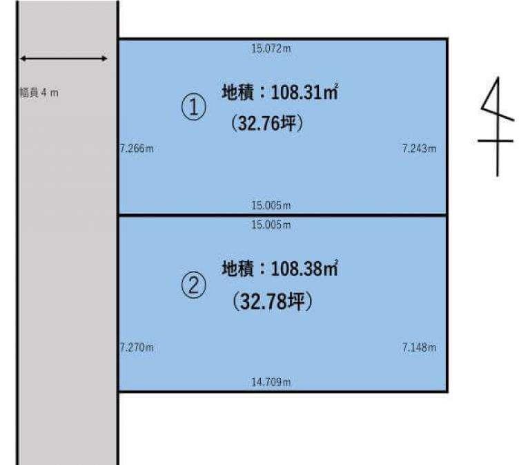 福岡市東区名島5丁目 区画図