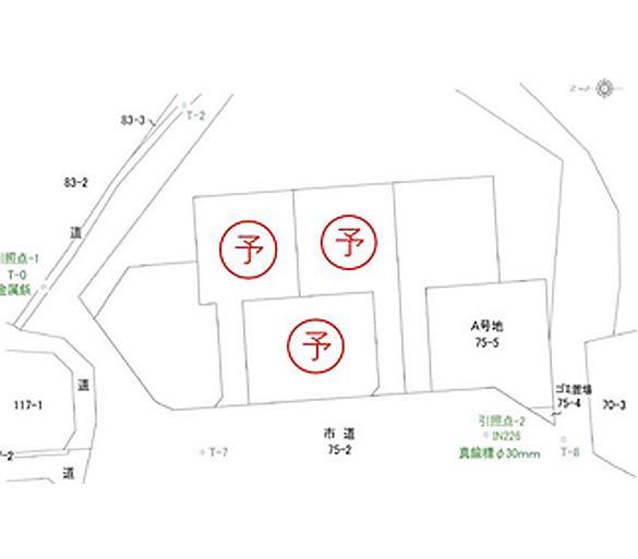 糸島市荻浦 区画図