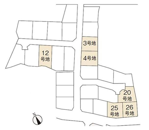 筑紫野市 つばきの里 吉木 区画図